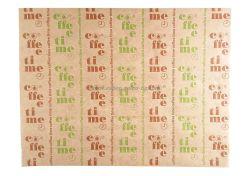 Хартия маслоустойчива кафява с печат 35*46 см - 1000 бр.