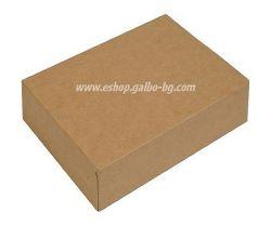 Картонена кутия за храна КАФЯВА  27*19*7,5 см  25 / 200 бр
