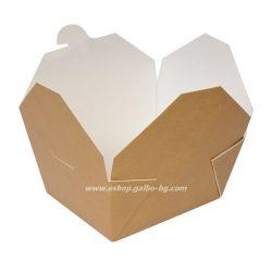 Кафява картонена кутия за храна 700 мл  540 бр