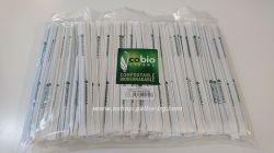 Биоразградими PLA сламки индивидуално опаковани в хартия, прави, т. зелени 20 см / 8 мм  500 бр.
