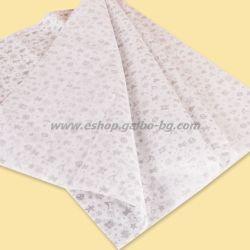 """Тишу хартия 50х75 см, """"Коледен печат"""", сребърен, 20 листа"""