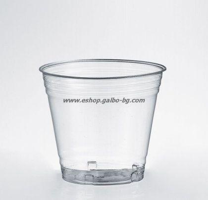 БИО прозрачна чаша PLA 6 оз - 180 мл, 100%Compostable,  50 бр