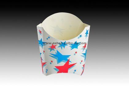 Картонена кутия за пържени картофки 150 г. ЗВЕЗДИ  1000 бр