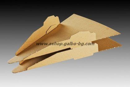 Триъгълна подложка за парче пица 100 бр.