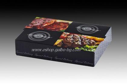 "Картонена кутия за храна ""Special Delivery"" 23*16*5 см  25 бр"