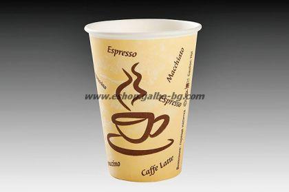 Картонена чаша Cappuccino  7,5 oz (180 мл) 50 бр.