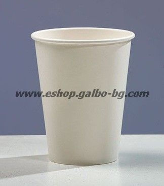 Бяла картонена чаша 14 oz (350 мл, 350 gr/m2)  1000 бр