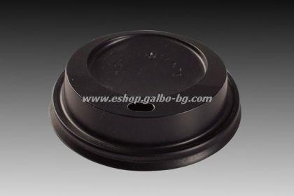 Капак STL 72 мм за картонена чаша 7 oz - ЧЕРЕН  1000 бр