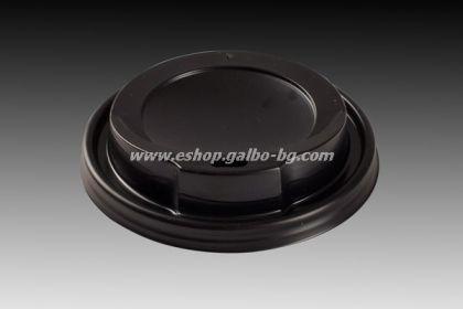 Капак STL 90 мм за картонена чаша 14 / 16 oz - ЧЕРЕН  1000 бр