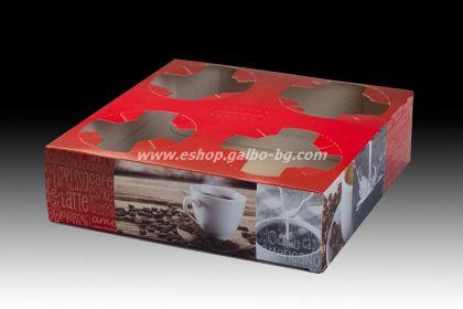 Носач за 4 чаши SMART COFFEE  50 бр