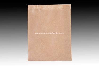Хартиен плик за закуски 16/5/21 см кафяв маслоустойчив без печат 1000 бр