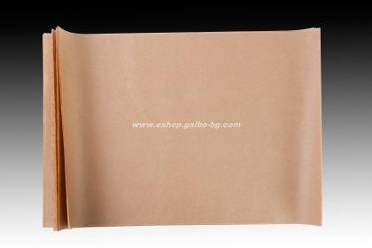 Хартия маслоустойчива кафява 35*50 см - 500 листа без печат
