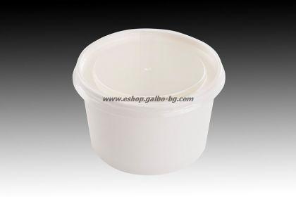 Прозрачен капак за сладоледена купа 400 мл  50 бр