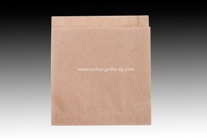 Хартиен плик L-джоб 15/16+2 см кафяв маслоустойчив
