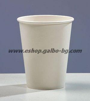 Бяла картонена чаша 14 oz (300 мл, 270 гр/м2)  50 бр