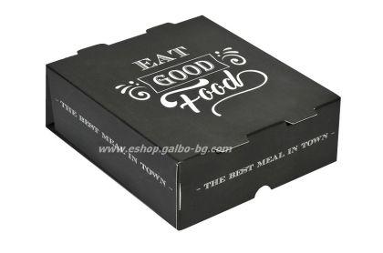 """Картонена кутия за храна """"Best Meal"""" 13*13*5 см  25 бр"""