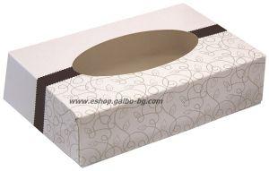 Картонена кутия за бонбони с прозорец 16,5*11,5*4 см 25 бр.