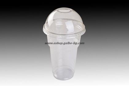Чаша 400 мл от РЕТ и ЕКО Бомбе 95 капак с широк отвор  50 бр