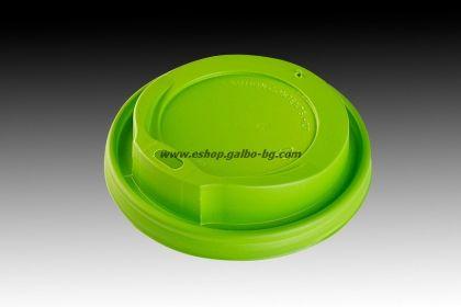 Капак STL 80 мм за картонена чаша 8 / 12 oz - ЗЕЛЕН  1000 бр