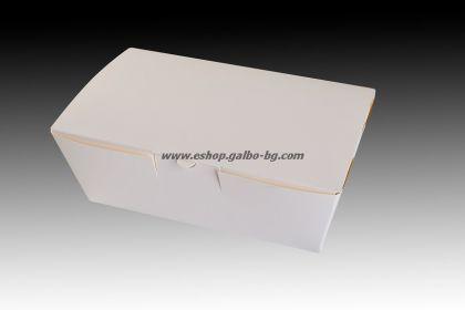Картонена кутия за храна 1400 мл БЯЛА  200 бр
