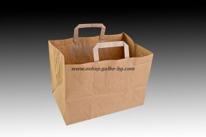 Чанта за меню с дръжки и широко дъно, 32/21/23,5 см - 150 бр.