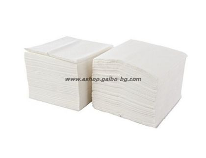 Бели салфетки 33 см, 500 бр в пакет
