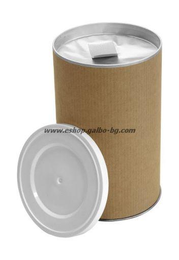 Цилиндрична картонена кутия 1000 мл, крафт