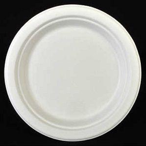 100% биоразградима картонена чиния кръгла 18 см   500 бр
