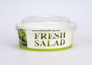 Картонена купа за салата FRESH SALAD  550 мл, с капак  50 бр