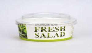 Картонена купа за салата FRESH SALAD 1100 мл, с капак  25 бр