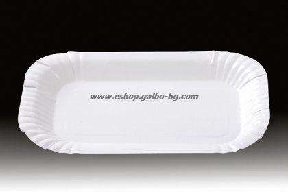 Картонена чиния правоъгълна 15/23 см  100 бр