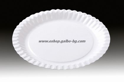 Картонена чиния кръгла 23 см  100 бр