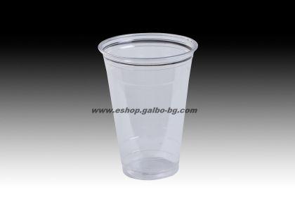 Прозрачна (РЕТ) чаша 16 oz (400/450 мл) 50 бр