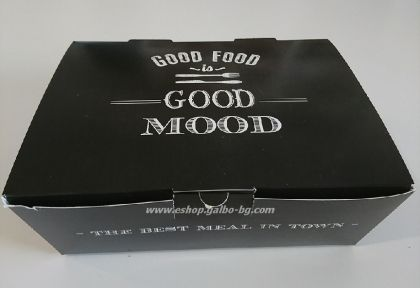 """Картонена кутия за храна """"Best Meal"""" 2400 мл  200 бр"""