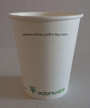 Картонена чаша 8 oz (200 мл) Биоразградима  50 бр