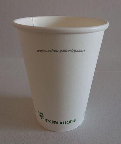Картонена чаша 12 oz (350 мл) Биоразградима  1000 бр