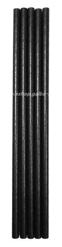 Хартиени черни сламки  20 см / 6 мм - 250 бр.
