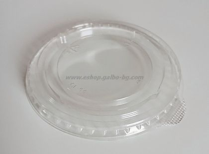 Капак CL95 мм за РЕТ чаша, плосък без отвор с ушенце 100 бр