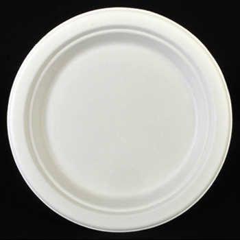 100% биоразградима картонена чиния кръгла 23 см  500 бр