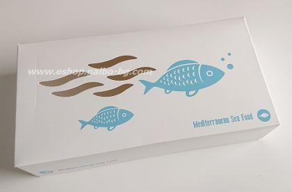 Картонена кутия за риба, малка 24,5*13*5,5 см   25 бр