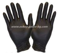 Ръкавици за еднократна употреба НИТРИЛ ЧЕРНИ  100 бр. S