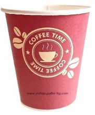 Картонена  чаша 8 oz (200 мл) COFFEE TIME