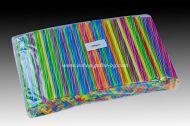 Сламки цветни микс, усукани, прави  21 см / 8 мм  500 бр.