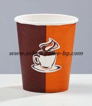 Картонена чаша 7 oz (150 мл) КАФЕ КРЕМ 100 бр