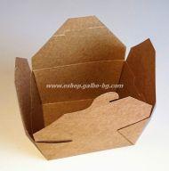 Картонена крафт кутия за храна 1300 мл  50 / 200 бр