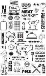 Хартия за сервиране и презентация с печат BBQ TIME 17,5*27 см - 500 бр