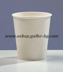 Бяла картонена чаша 8 oz (200 мл)  50 / 1000 бр
