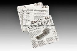 Хартиен плик L-джоб за БУРГЕР 16/17 см, 1000 бр.,  маслоустойчив с печат НОВИНИ