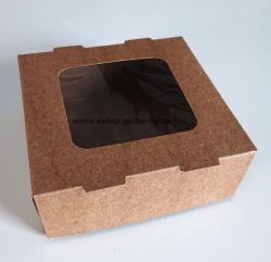 Картонена кутия с прозорец КАФЯВА 13х13х5 см, 400 бр.