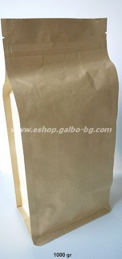 Кафяв плик тип кутия, с цип 1000 гр, 50 бр